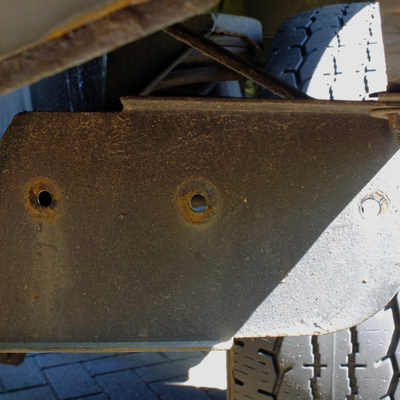 Bracket with old rivets removed